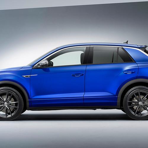 VW T-Roc R, Seitenansicht, stehend, blau