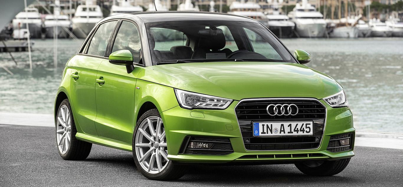 Audis Kleinwagen A1 in grün.