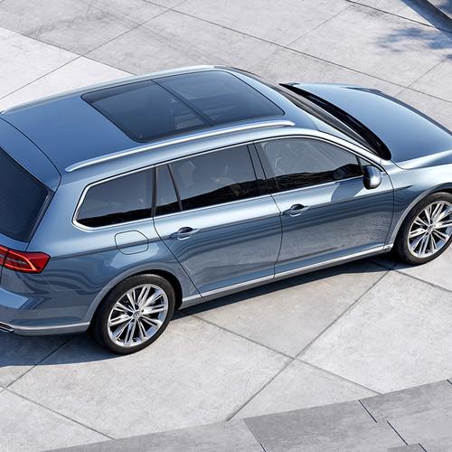 VW Passat Variant Vogelperspektive Glasschiebedach