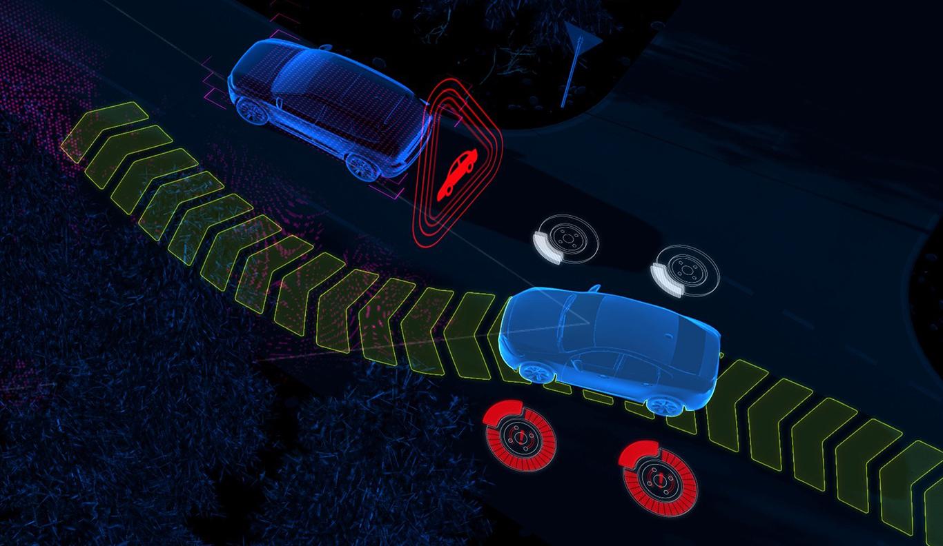 Schon grundsätzlich in jedem XC60 2017 mit dabei: Die Assistenzfunktion Volvo City Safety hilft dabei, Kollisionen zu vermeiden.
