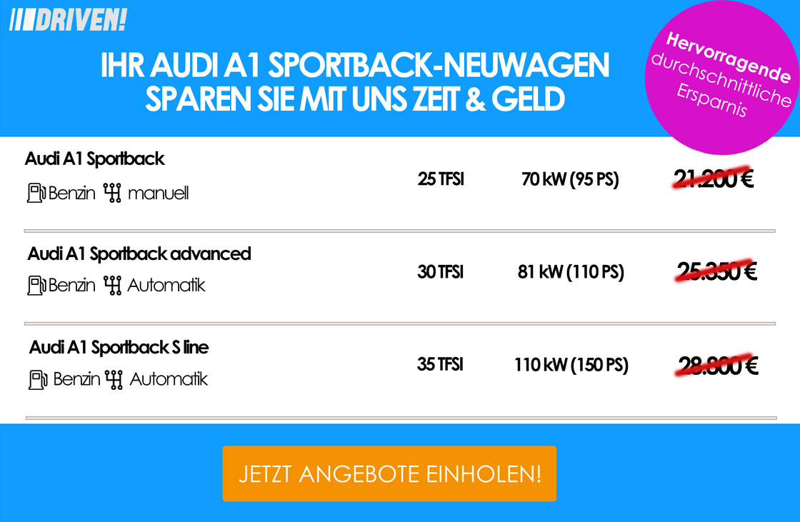 Werbung A1 Sportback