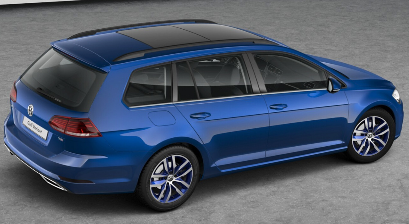 "Das Ergebnis unseres Konfigurator-Checks: VW Golf 7 Variant Highline in ""Atlantic Blue Metallic"""