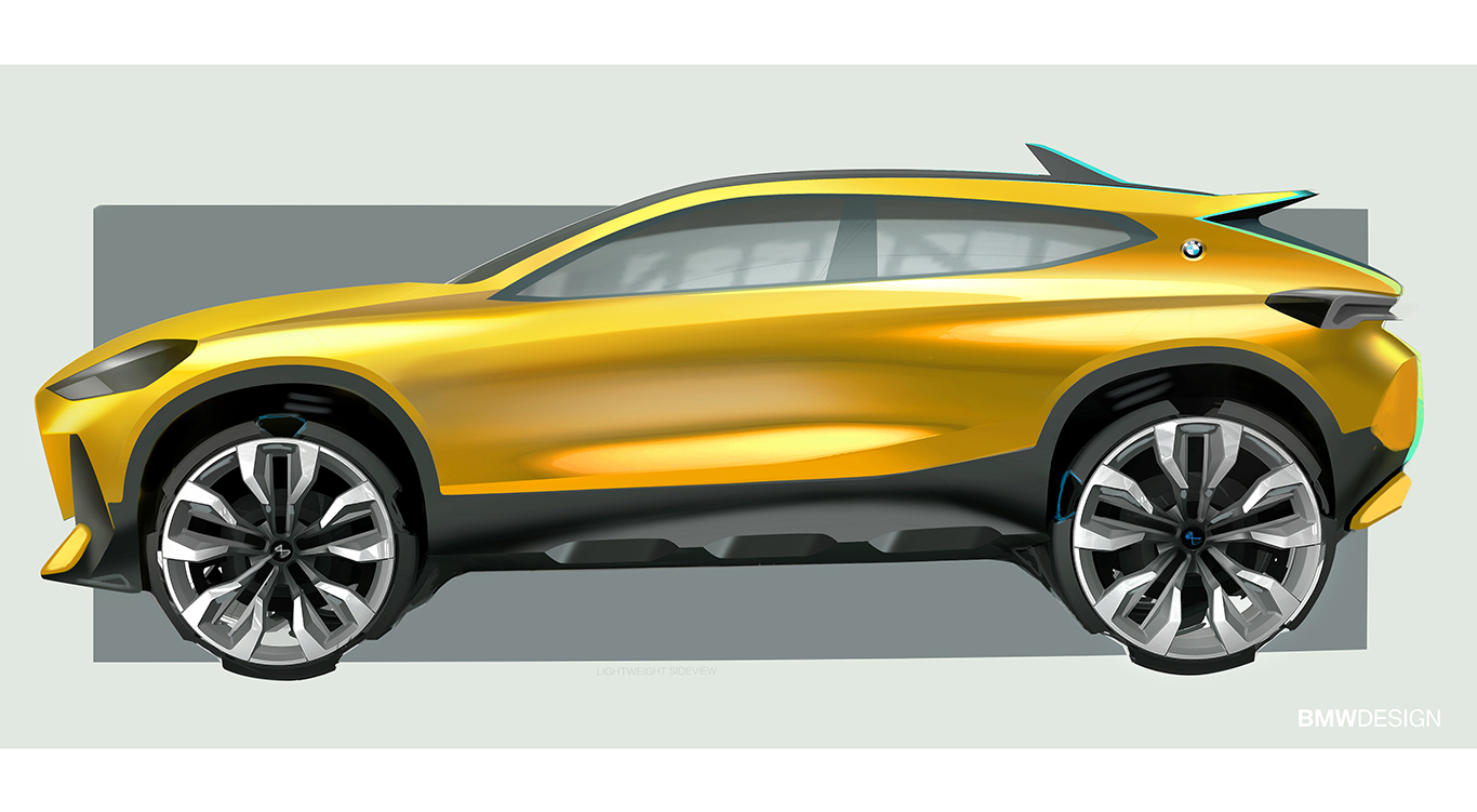 BMW X2: Design-Skizze.