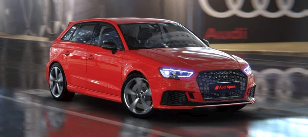 Unser Wunsch-Audi RS3 Sportback in Tangorot und mit einer Menge an Assistenz und Sonderkomfort.