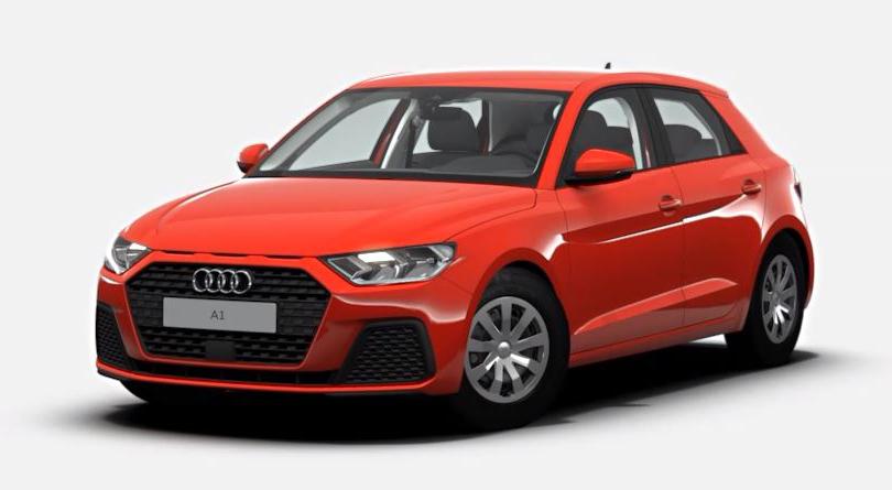 Das noch ziemlich schlicht gehaltene Basismodell des Audi A1 Sportback 2018.