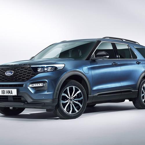 Ford Explorer 2019, Frontansicht, blau