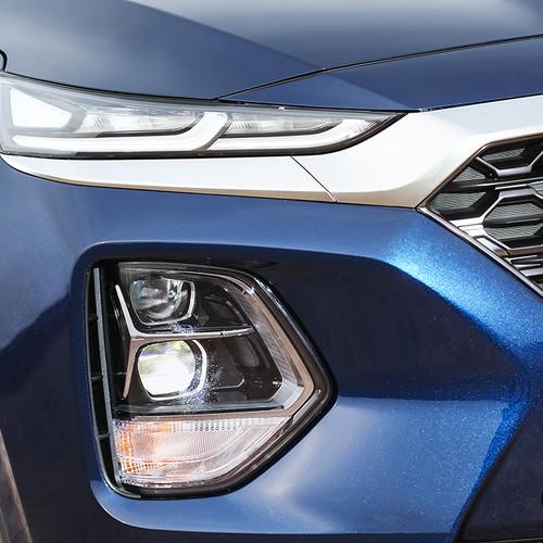 Hyundai Santa Fe 2018, blau, Scheinwerfer
