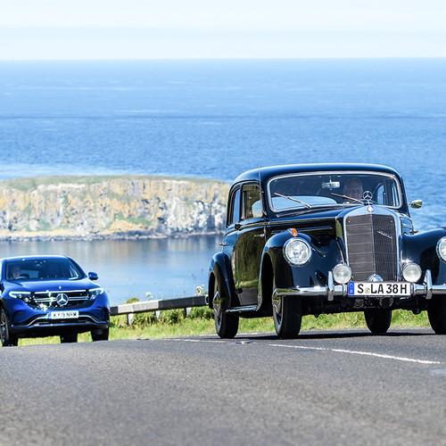 Mercedes EQC, Vergleich, Mercedes-Oldtimer