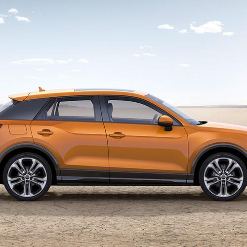 Audi Q2 Design, Halbseitenansicht, stehend, orange