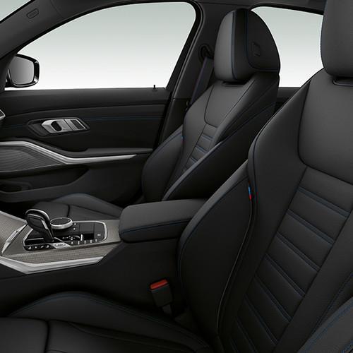 BMW 3er, Cockpit mit Sportsitzen, Seitenansicht