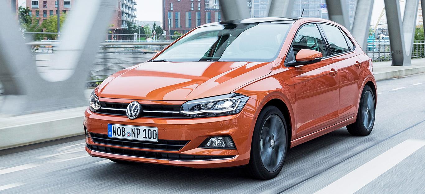 VW Polo 2018, Fahraufnahme, Frontansicht