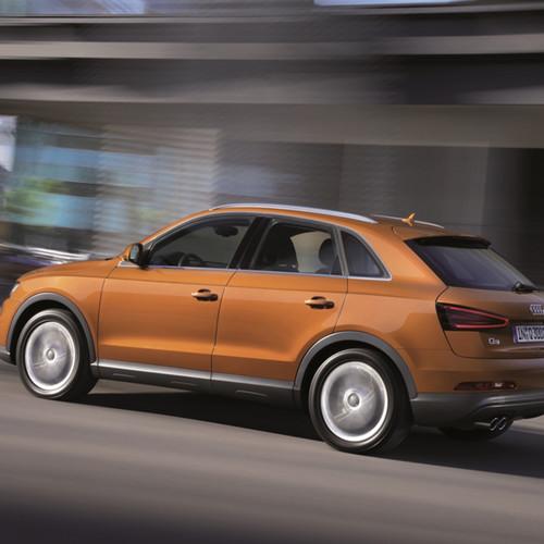 Seitenansicht des Audi Q3.