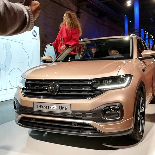 VW T-Cross, Prämiere, Frontansicht, beige