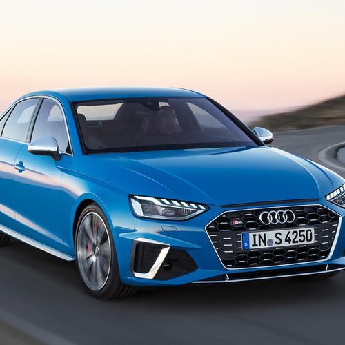 Audi S4, Facelift 2019, Frontansicht, blau