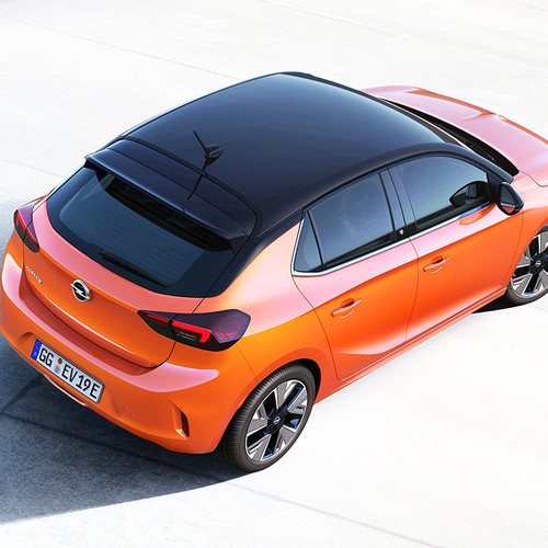 Opel Corsa-e, Panorama, orange