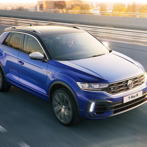 VW T-Roc R 2019, blau, Frontansicht