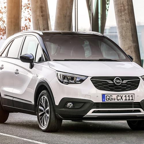 Opel Crossland X, weiß, Frontansicht