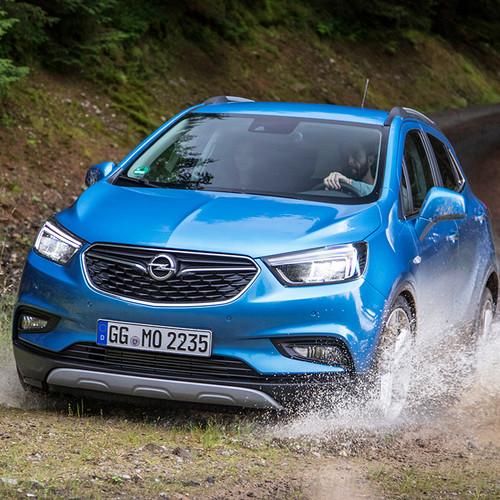 Opel Mokka X, Frontansicht, blau, Fahraufnahme