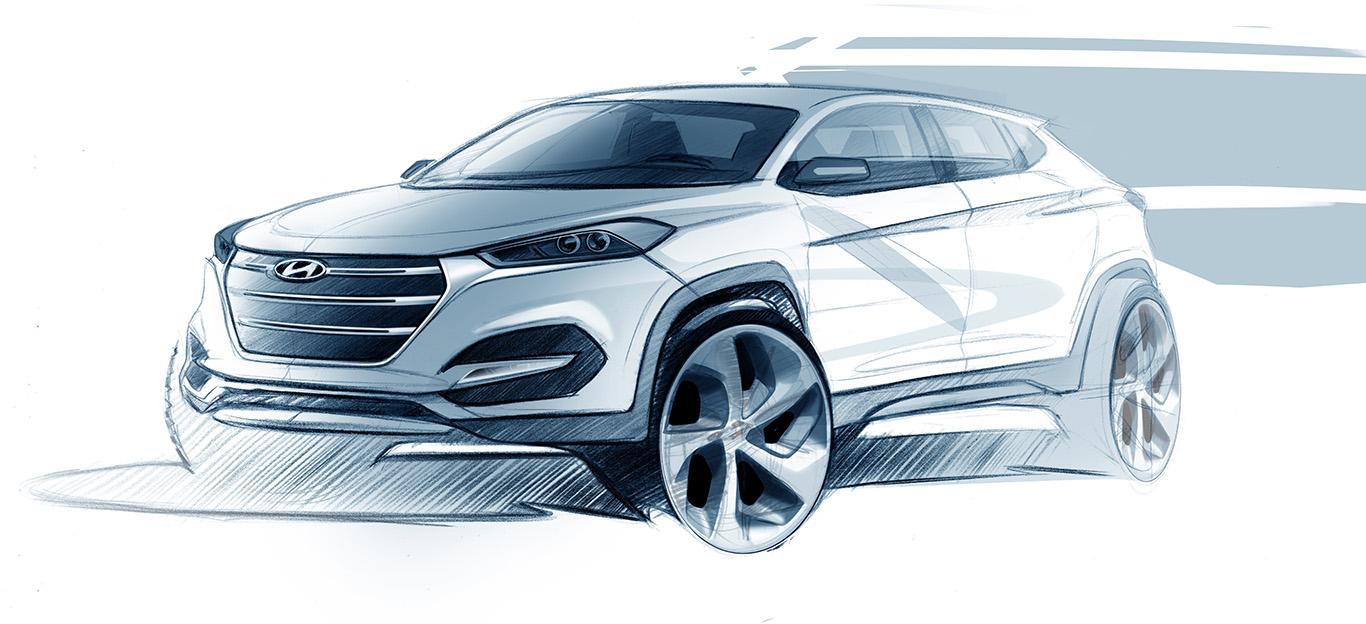 Hyundai Tucson, Design-Skizze