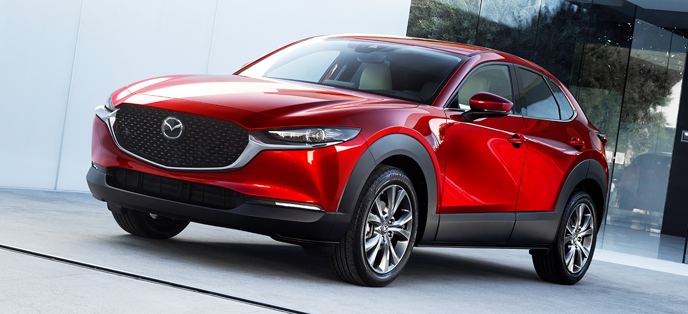 Mazda CX-30, rot, Frontansicht