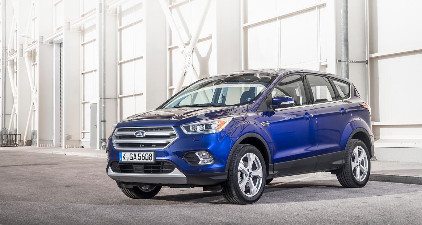 """Stattlich und elegant: Unser Ford Kuga in der """"Titanium""""-Ausstattungsversion."""