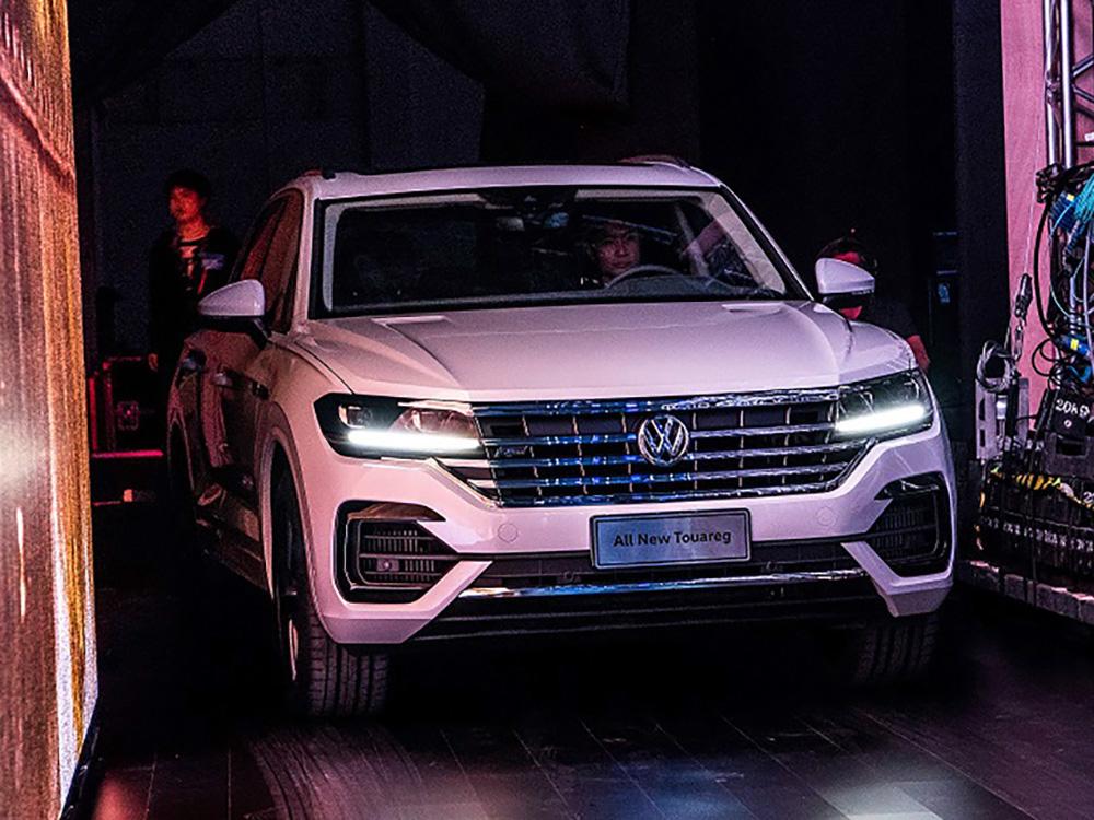 In Peking wurde die neue SUV-Generation des VW Touareg erstmals der Öffentlichkeit präsentiert.