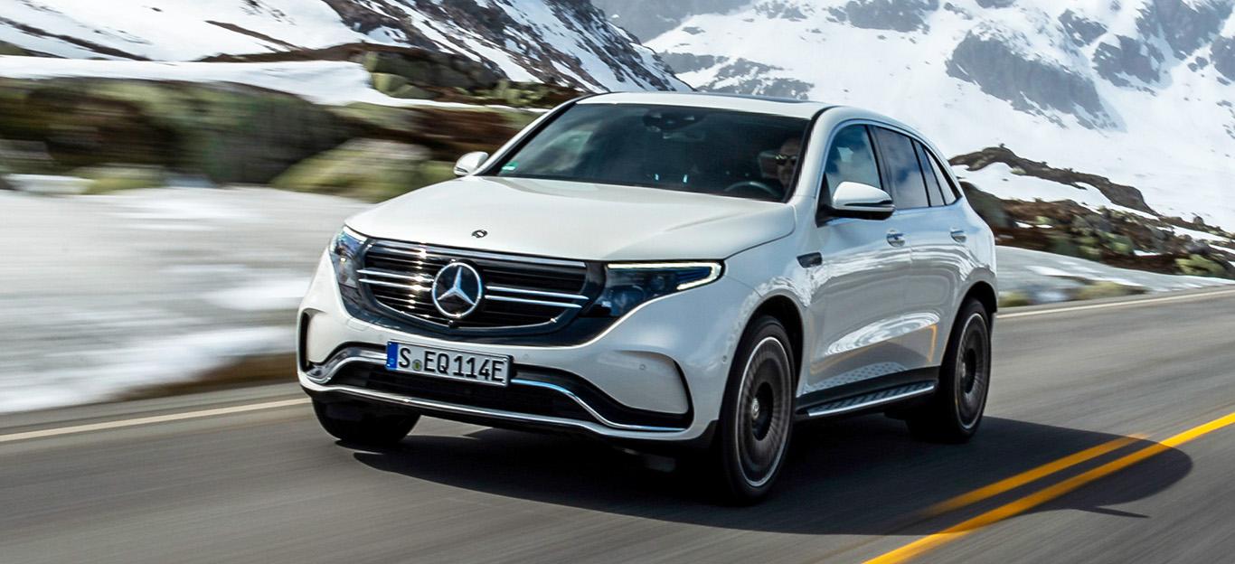Mercedes EQC, weiß, Frontansicht