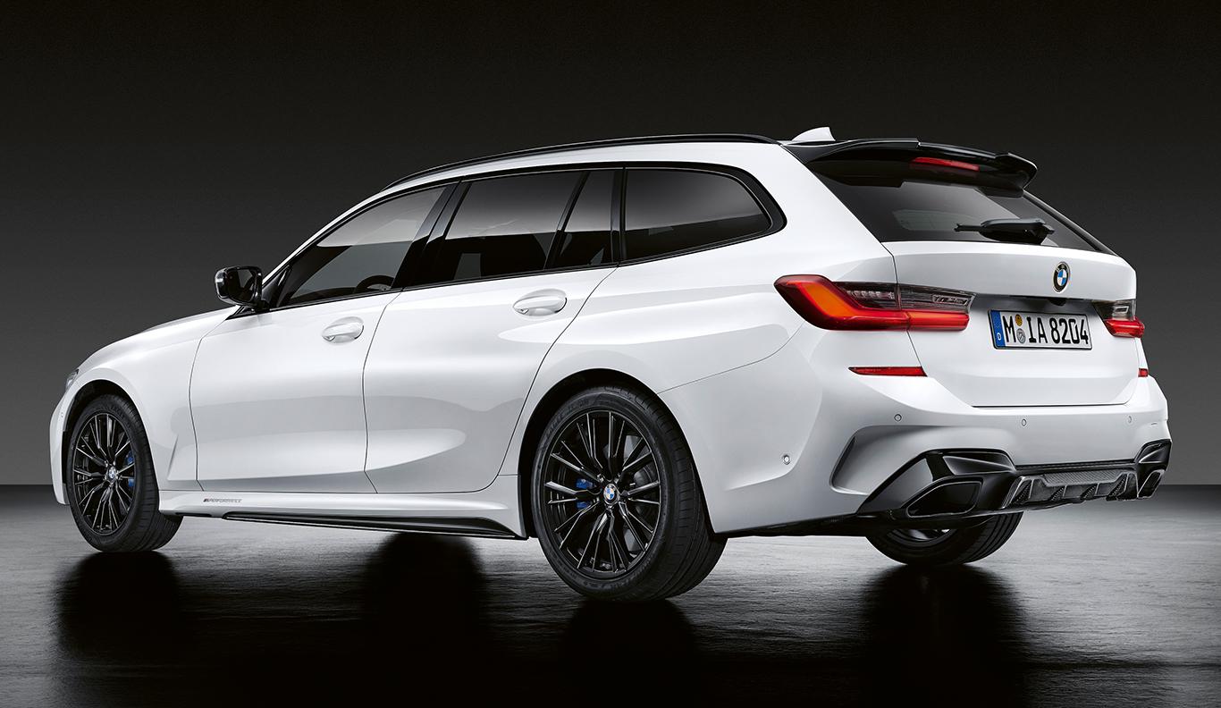 Auch möglich, aber leider sehr exklusiv im Preis: Der BMW 3er Touring mit M Performance Parts.