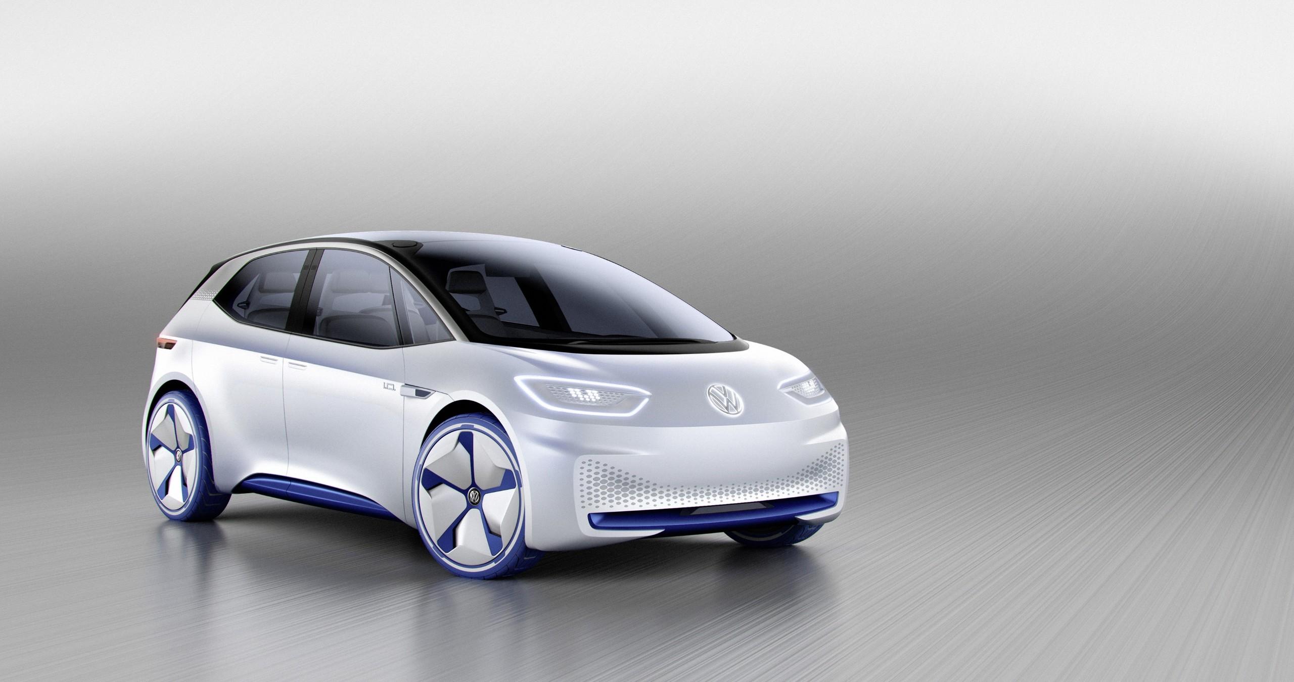 """Modellstudie """"VW I.D."""": Bereits im Jahr 2016 hat Volkswagen einen neuen Kompakt-Stromer angekündigt. Seine Markteinführung soll auch das Ende der Produktion des e-Golf markieren."""
