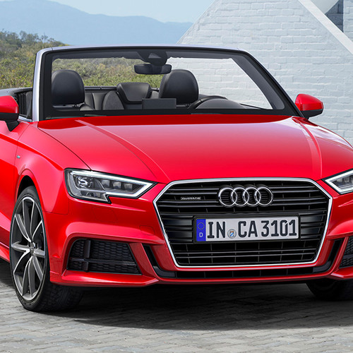 Audi A3 Cabrio, Frontansicht, stehend, rot