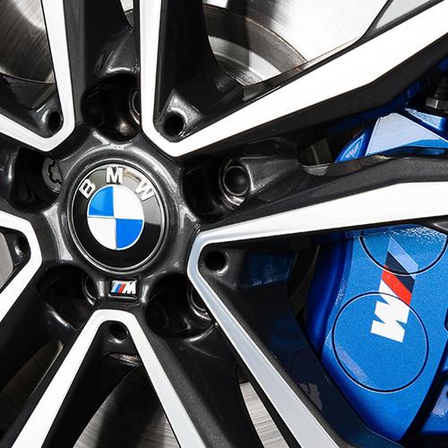 BMW X2 M35i, Detailaufnahme Felgen mit M-Logo