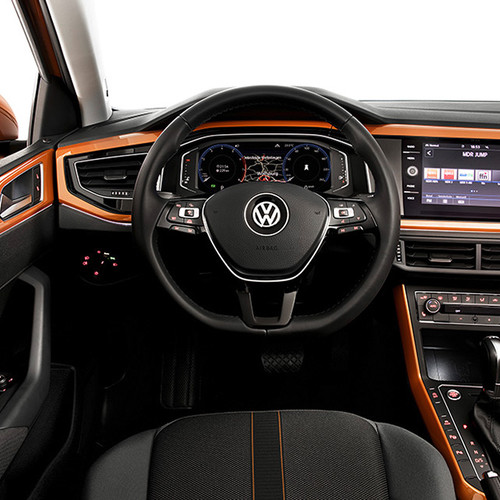 VW Polo, Cockpit-Ansicht, frontal