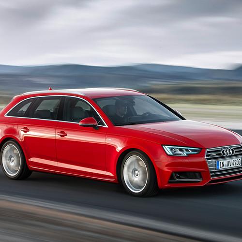 Halbseitenansicht des Audi A4 Avant