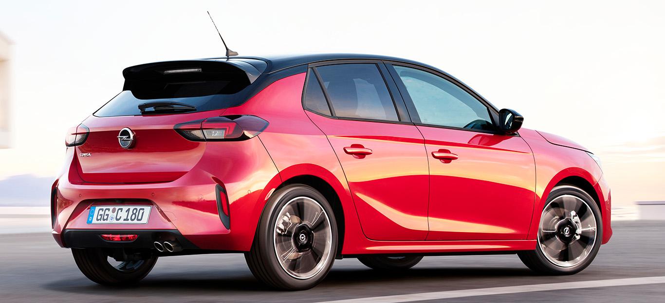 Opel Corsa F, Seitenansicht, rot