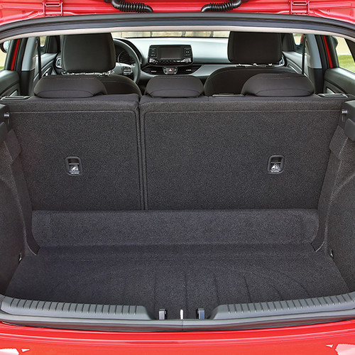 Hyundai i30, Kofferraumansicht, rot