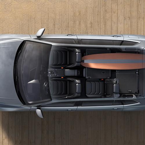 VW Tiguan Allspace, Vogelperspektive