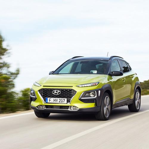 Hyundai Kona Frontansicht grün