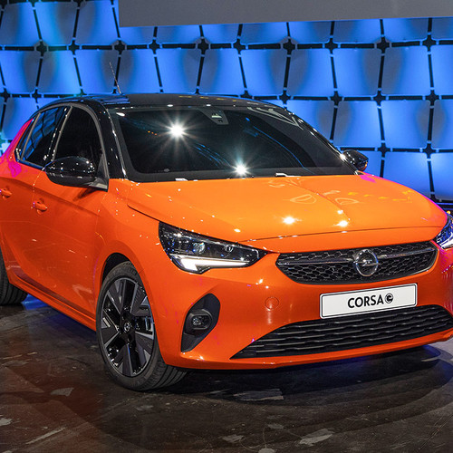Opel Corsa-e, Frontansicht, orange