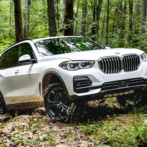 BMW X5 2018, weiß, Frontansicht
