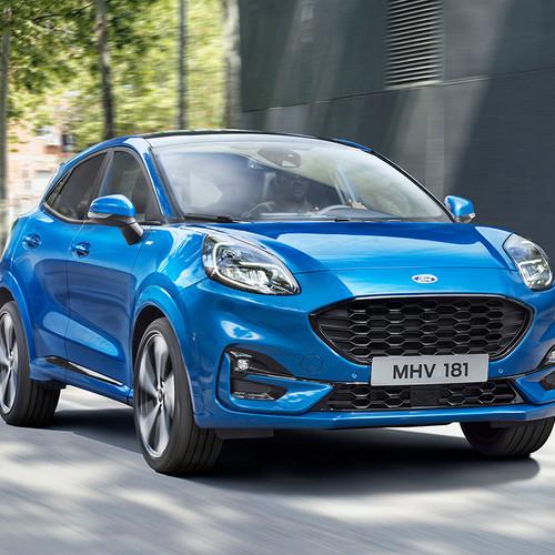 Ford Puma 2020, blau, Frontansicht