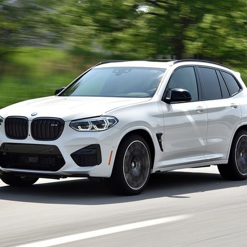 BMW X3 M 2019, weiß, Frontansicht