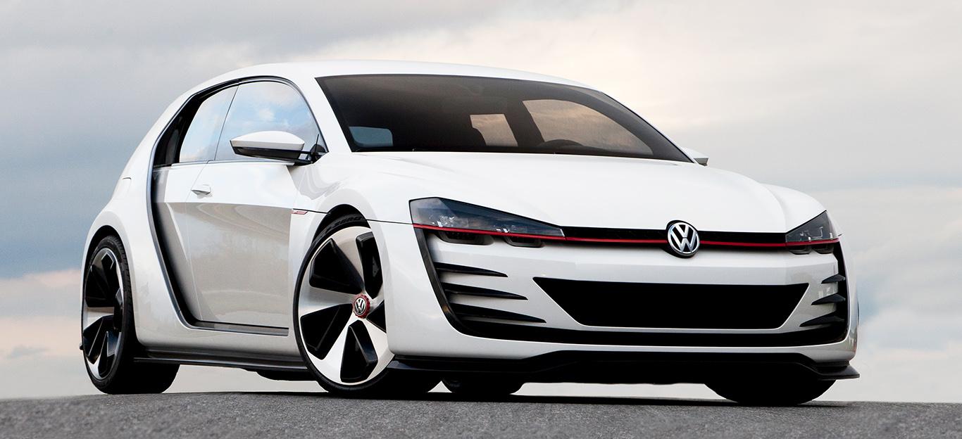VW Golf 8 2019, Studie, weiß, Frontansicht