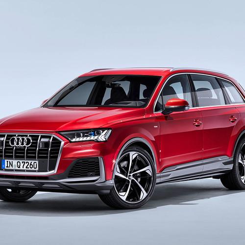 Audi Q7 Facelift, rot, Frontansicht