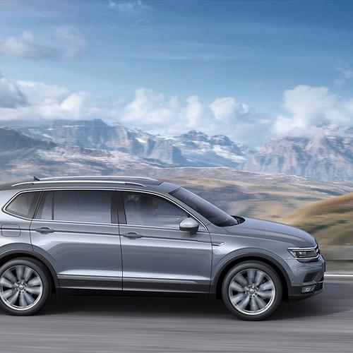 VW Tiguan Allspace silber Seitenansicht