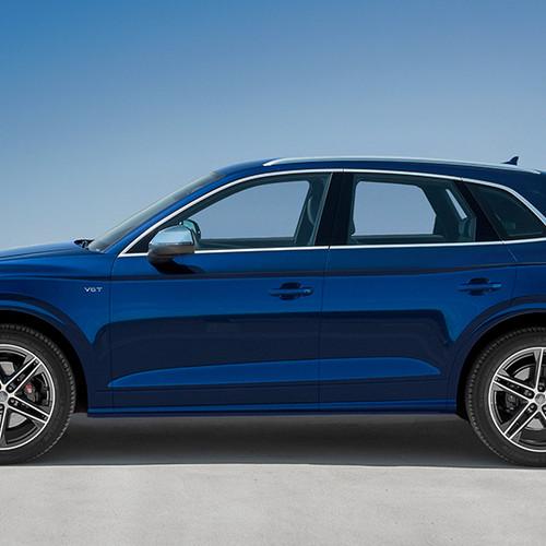 Audi SQ5, Seitenansicht, stehend, blau
