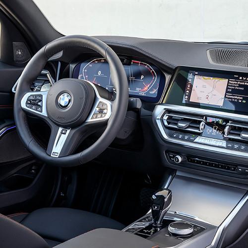 BMW 3er, Cockpit-Ansicht von rechts seitlich