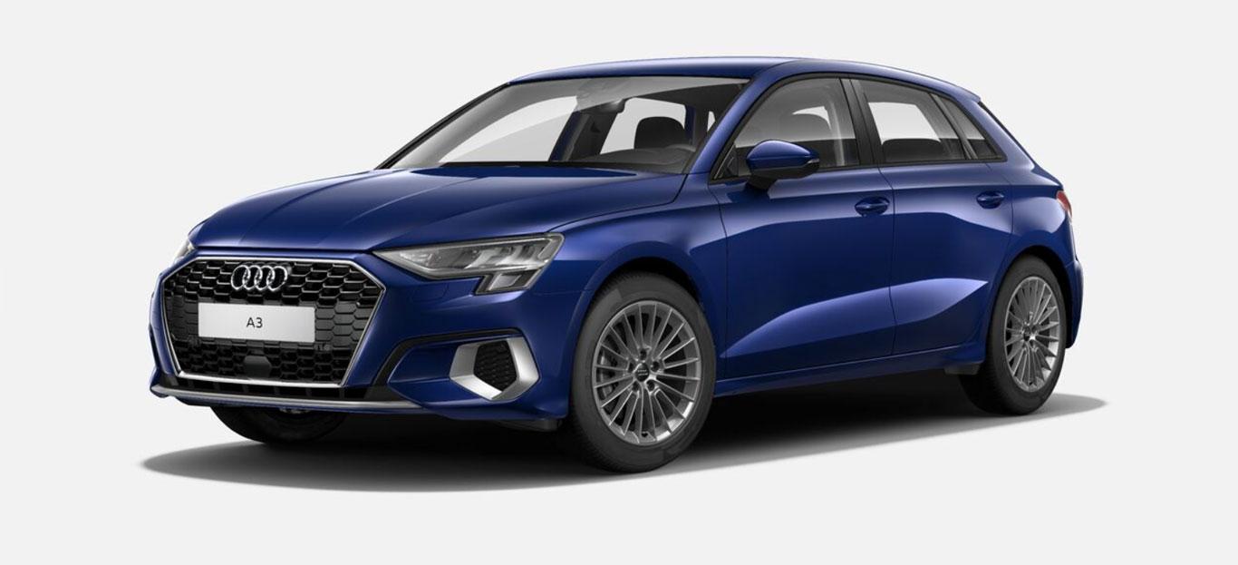 """Der Audi A3 in der """"advanced""""-Ausführung."""