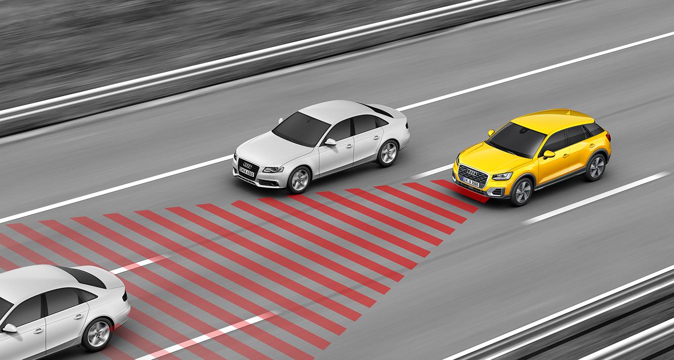 """""""Adaptive cruise control"""" nennt sich das intelligente Audi-Assistenzsystem, bei dem der eingestellte Abstand zum Vordermann automatisch gewahrt bleibt. Nicht ganz billig, dafür äußerst sinnvoll auch für unseren A3 Sportback."""