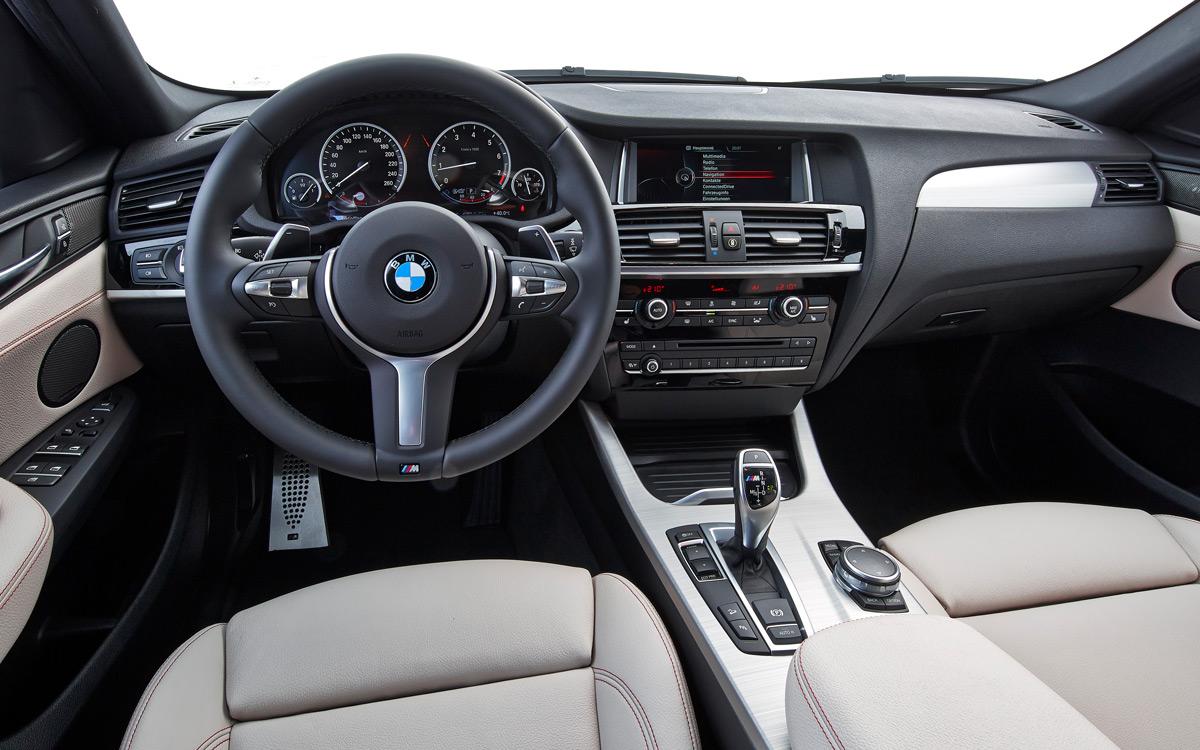 Auch innen stark: Das Cockpit des X4 M40i. - Foto: BMW