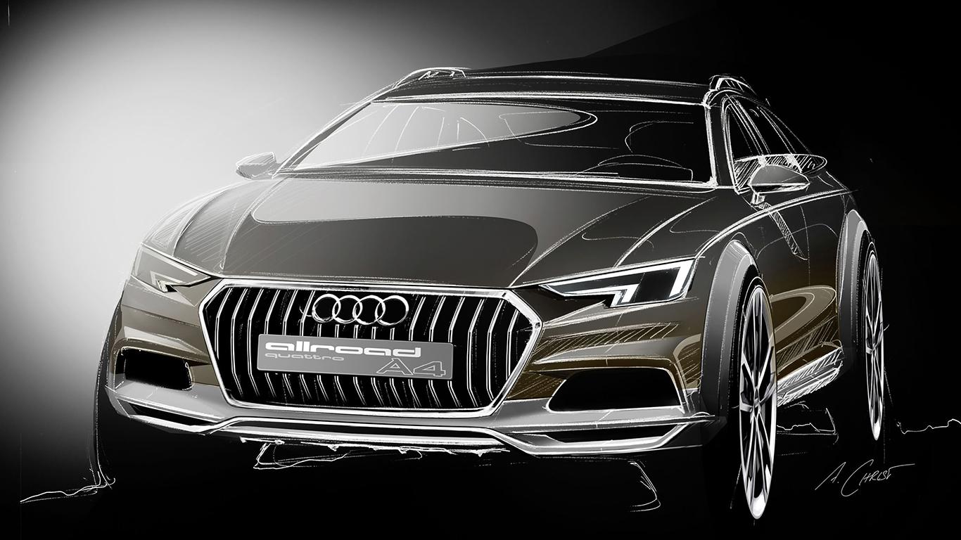 Audi A4: Design-Skizze.